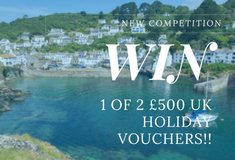 Enter to WIN 1 of 2 £500 UK holiday vouchers!