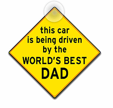 World's best dad car sign.