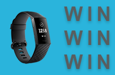 Win the NEW Fitbit Charge 3 - Enter our competition
