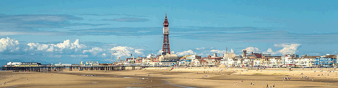 Blackpool Beach by Christopher Combe