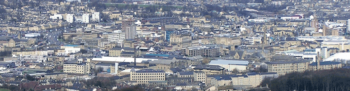 Huddersfield skyline by Richard Harvey
