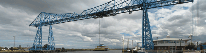 Middlesbrough Transporter Bridge by Klaus Foehl