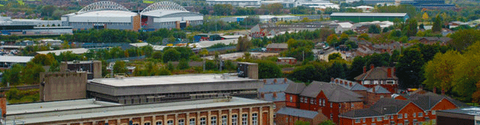 Wigan skyline by Graham