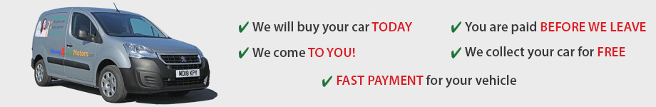 We come to you to buy your car